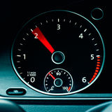 Detail of a tachometer in a car Royalty Free Stock Photos
