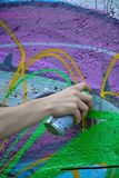 Detail of a tagger Stock Photo