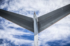 Detail of the tail of an old airplane Stock Photography