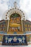 Detail of Tall Shanti Stupa near Leh Stock Images