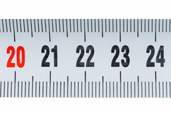 Detail of a tape measure isolated Stock Photos