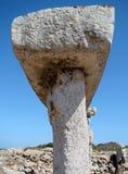 Detail of taula in Talati de Dalt, Menorca, Spain Stock Photo