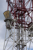 Detail of a telecommunications tower Stock Images