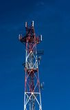 Detail of telecommunicatiopn tower Stock Photos