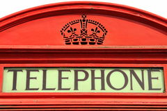 Detail of a Telephone Box Stock Photography