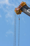 Detail of telescopic boom Royalty Free Stock Photos