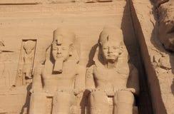 Detail-Tempel von Rameses II Abu Simbel, Ägypten Lizenzfreie Stockbilder