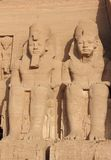 Detail-Tempel von Rameses II Abu Simbel, Ägypten Stockfotos