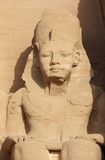 Detail-Tempel von Rameses II Abu Simbel, Ägypten Stockfotografie