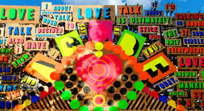 Detail from the Temple of Agape by Morag Myerscough Royalty Free Stock Photos