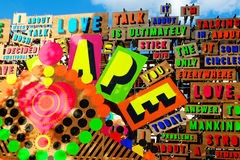 Detail from the Temple of Agape by Morag Myerscough Stock Image