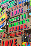 Detail from the Temple of Agape by Morag Myerscough Stock Images