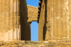 Detail from Temple of Concordia at Agrigento Valley of the Temple, Sicily Stock Photo