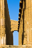 Detail from Temple of Concordia at Agrigento Valley of the Temple, Sicily Stock Image