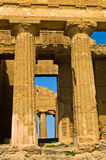 Detail from Temple of Concordia at Agrigento Valley of the Temple, Sicily Stock Images