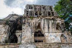 Detail of Temple of the Cross at mayan ruins of Palenque - Chiap Stock Photo