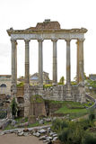 Detail of temple at the Fori Imperiali in Rome Royalty Free Stock Photography