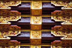 Detail of Temple Gate with ornaments Royalty Free Stock Photo