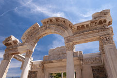 Detail of the Temple of Hadrian. Ephesus ancient city, Selcuk, Turkey Royalty Free Stock Image
