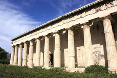 Detail of temple of Hephaestus,athens. Architectural details of Temple of Hephaestus in Greece stock photography