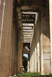 Detail of temple of Hephaestus,athens Royalty Free Stock Image