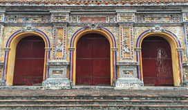 Detail of the temple in Hue Citadel, Vietnam Royalty Free Stock Photography