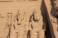 Detail Temple of Rameses II. Abu Simbel, Egypt. Royalty Free Stock Images