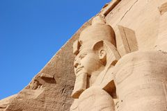 Detail Temple of Rameses II. Abu Simbel, Egypt. Royalty Free Stock Photography