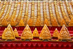Detail temple roof. Royalty Free Stock Photo