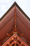 Detail of temple (roof). Part of the roof in Kiyomidzudera (Temple of Clean Water) in Kyoto, Japan Royalty Free Stock Photo