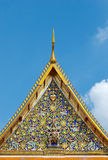 Detail of temple roof in Bangkok, Thailand Stock Images