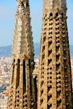 Detail of the temple of the Sagrada Familia Royalty Free Stock Image