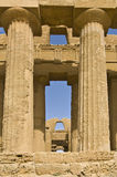 Detail of a temple in Sicily Stock Photos