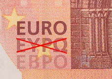 Detail of a ten Euro note Royalty Free Stock Photography
