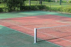 Detail of a tennis court Royalty Free Stock Photos