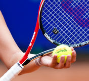 Detail of a tennis player arm Stock Photos