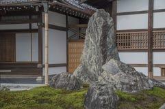 Detail Of The Tenryuji Temple Zen Garden At Arashiyama Kyoto Japan royalty free stock images