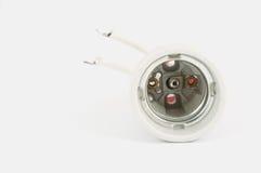 Detail terminal inside light bulb Stock Image