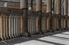 Detail of the terrace of historic building Stock Images