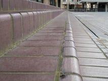 Detail of terracotta brick steps royalty free stock photo