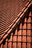Detail of the terracotta roof tile Royalty Free Stock Photo