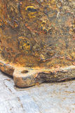 Detail and texture of the Rusty steel water supply pipe Stock Photos
