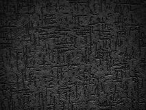 Detail of a textured, black exterior wall Stock Photography