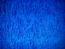Detail of a textured, blue exterior wall Stock Photo