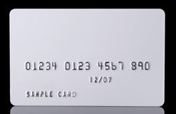Detail Textured Credit Card on black Stock Image