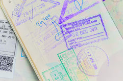 Detail of Thai Passport. By permited Royalty Free Stock Photos