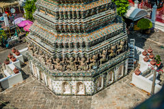 Detail of Thai temple royalty free stock photos