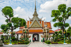 Detail of Thai temple royalty free stock images