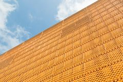 Detail of theater in Lelystad, the Netherlands. Detail of new modern theater in Lelystad, the Netherlands Stock Images