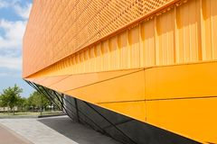 Detail of theater in Lelystad, the Netherlands. Detail of new modern theater in Lelystad, the Netherlands Royalty Free Stock Photo
